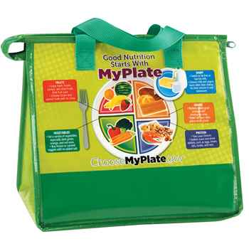 My Plate Eco-Friendly Laminated Insulated Lunch Bag