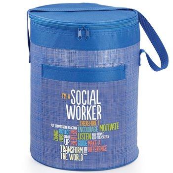 I'm A Social Worker Brookville Barrel Cooler Bag