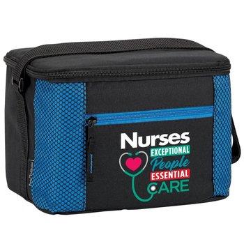 Nurses: Nurses Exceptional People, Essential Care Blue Atlantic Lunch/Cooler Bag