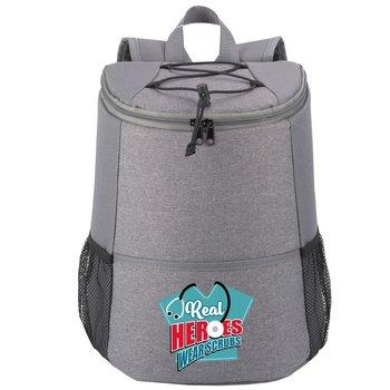 Real Heroes Wear Scrubs Hemingway Backpack Cooler