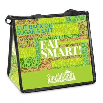 Eat Smart! Eco-Friendly Laminated Insulated Lunch Bag - Personalization Available