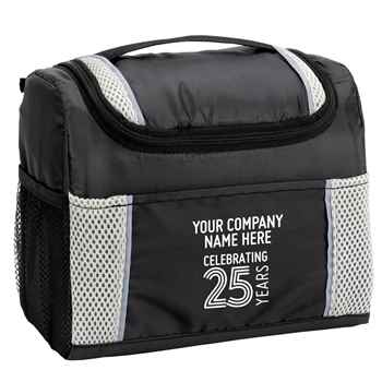 25th Anniversary Gray Bayville Lunch/Cooler Bag - Personalization Available