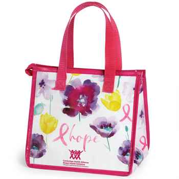 Floral/Hope Insulated Laminated Eco-Lunch Bag Plus Personalization
