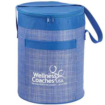 Blue Brookville Barrel Cooler Bag - Personalization Available