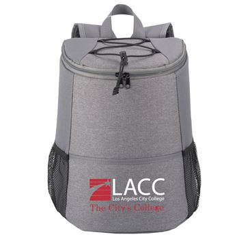 Gray Hemingway Backpack Cooler - Full Color Personalization Available