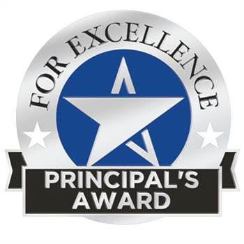 Principal's Award For Excellence Lapel Pin