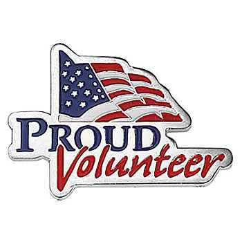 Proud Volunteer Lapel Pin