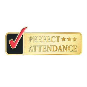 Perfect Attendance Checkmark Lapel Pin