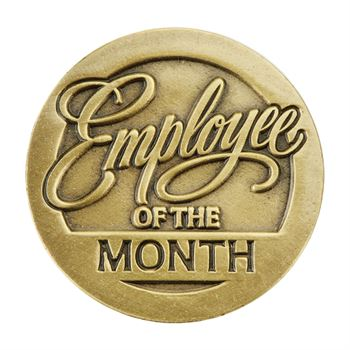 Employee Of The Month Lapel Pin With Presentation Card