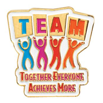 TEAM: Together Everyone Achieves More Lapel Pin with Presentation Card