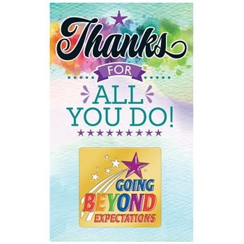 Going Beyond Expectations Lapel Pin with Presentation Card