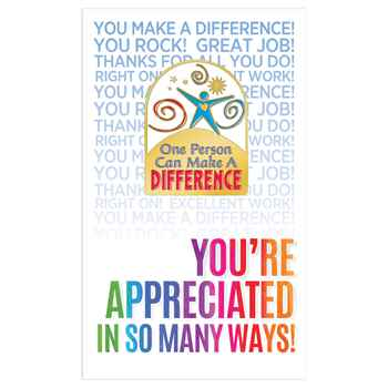 One Person Can Make A Difference Lapel Pin With Presentation Card