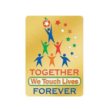 Together We Touch Lives Forever Lapel Pin With Presentation Card
