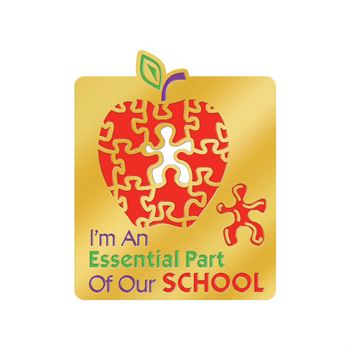 I'm An Essential Part Of Our School Lapel Pin With Presentation Card