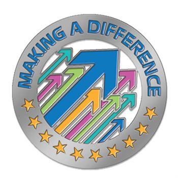 Making A Difference Lapel Pin With Presentation Card
