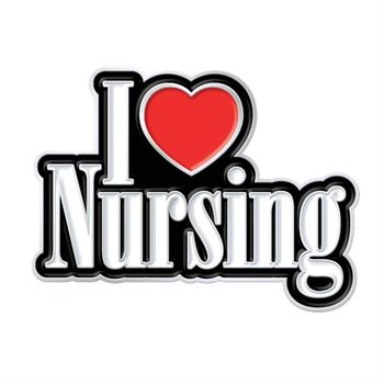 I Love Nursing Lapel Pin With Presentation Card