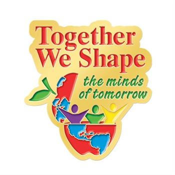 Together We Shape The Minds Of Tomorrow Lapel Pin With Presentation Card