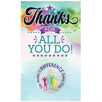 We Make A Difference Every Day Lapel Pin With Presentation Card