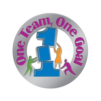 One Team One Goal Lapel Pin With Presentation Card