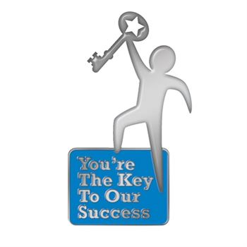 You're The Key To Our Success Lapel Pin With Presentation Card