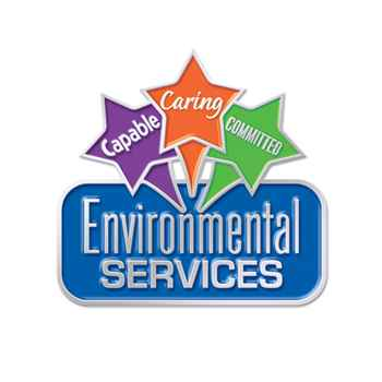 Environmental Services: Capable Caring Committed Lapel Pin