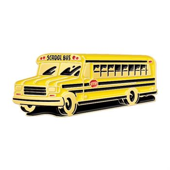 School Bus Lapel Pin With Presentation Card