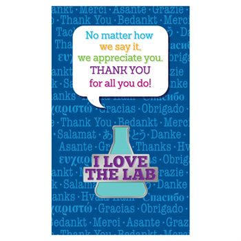 I Love The Lab Lapel Pin With Presentation Card