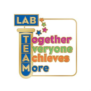 Lab Team: Together Everyone Achieves More Lapel Pin With Presentation Card
