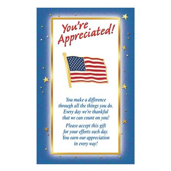 American Flag Lapel Pin With Presentation Card