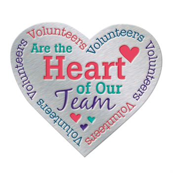 Volunteers Are The Heart Of Our Team Lapel Pin with Presentation Card