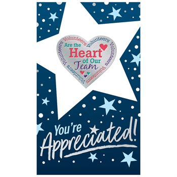 Volunteers Are The Heart Of Our Team Lapel Pin'
