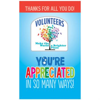 Volunteers Make The World A Brighter Place Lapel Pin With Presentation Card