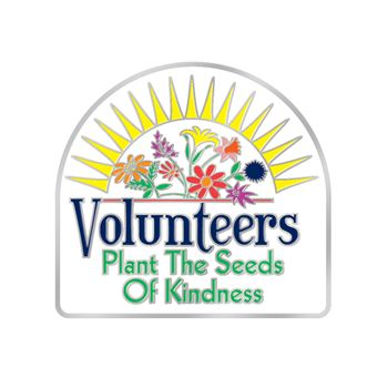 Volunteers Plant The Seeds Of Kindness Lapel Pin With Presentation Card