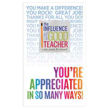 The Influence Of A Good Teacher Can Never Be Erased Lapel Pin With Presentation Card
