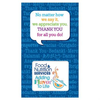 Food & Nutrition Services: Adding Flavor To Life Lapel Pin With Presentation Card