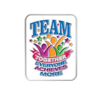 Together Everyone Achieves More Lapel Pin With Presentation Card