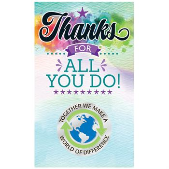 Together We Make A World Of Difference Lapel Pin With Presentation Card
