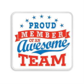 Proud Member Of An Awesome Team Lapel Pin With Presentation Card