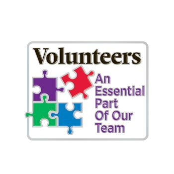 Volunteers: An Essential Part Of Our Team Lapel Pin With Presentation Card