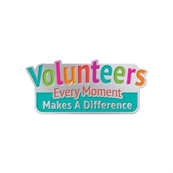 Volunteers Every Moment Makes A Difference Lapel Pin With Presentation Card
