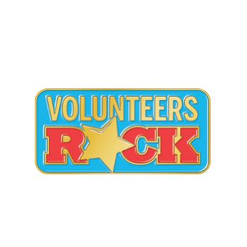 Volunteers Rock Lapel Pin With Presentation Card