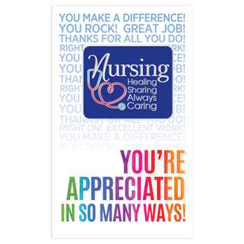 Nurses Healing, Sharing, Always Caring Lapel Pin With Presentation Card
