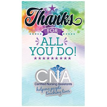 CNA Certified Nursing Assistants: Helping People Touching Lives Lapel Pin With Presentation Card