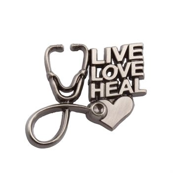 Live, Love, Heal Lapel Pin With Presentation Card