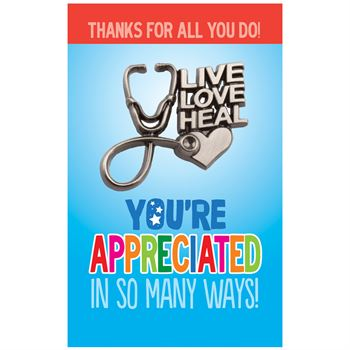 Live, Love, Heal Pewter Lapel Pin With Presentation Card