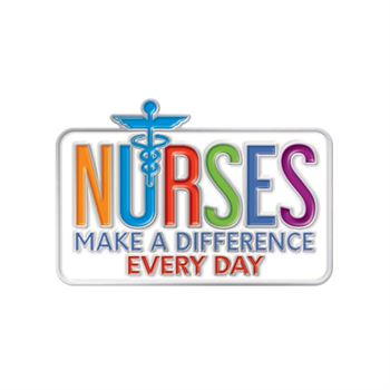 Nurses Make A Difference Every Day Lapel Pin With Presentation Card