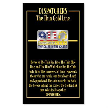 911 Dispatchers: The Calm In The Chaos Lapel Pin With Presentation Card