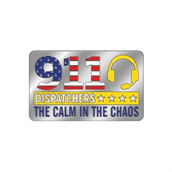 911 Dispatchers The Calm In The Chaos Lapel Pin With Presentation Card