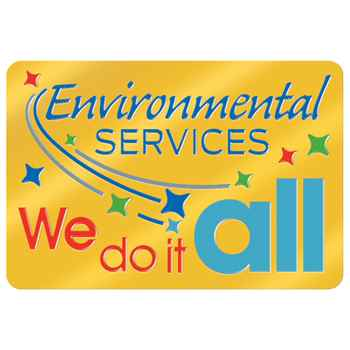 Environmental Services: We Do It All Lapel Pin With Presentation Card