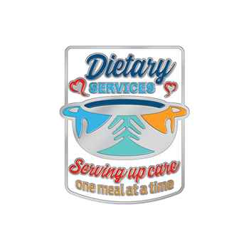Dietary Services: Serving Up Care One Meal At A Time Lapel Pin With Presentation Card